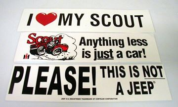 "Picture of I ""love"" my Scout bumper sticker"