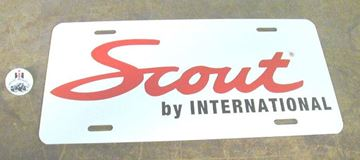 Picture of Scout By International License Plate