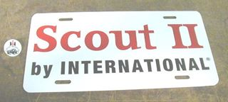 Picture of License Plate! Scout II