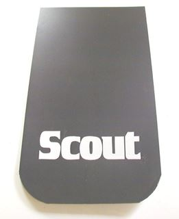 Picture of Mud Flaps SCOUT BLACK (small) SOLD AS PAIR