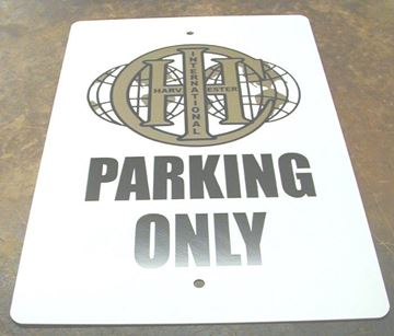 Picture of Parking Only Sign! OLD IHC