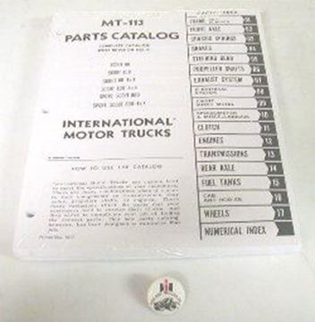 Picture of Factory Parts Manual for Scout 80 and 800 1961-1968