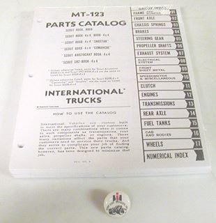 Picture of Factory Parts Manual for Scout 800 and 800B 1969-1971