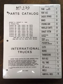 Picture of Factory Parts Manual for Scout II 1971-'80