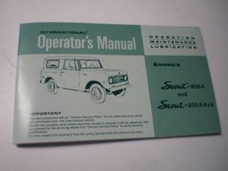 Picture of IH Owners/Operators Manual, 1969-70 Scout 800A