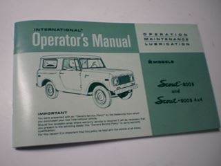 Picture of IH Owners/Operators Manual, 1971 Scout 800B