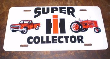 Picture of IH Super Collector license plate!