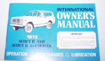 Picture of IH Owners/Operators Manual, 1973 Scout II NOS