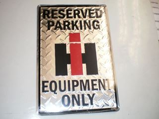 Parking Only Signs Metal: IH