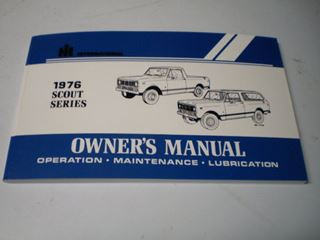 Picture of IH Owners/Operators Manual, 1976 Scout II