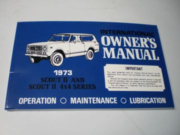 Picture of IH Owners/Operators Manual, 1973 Scout II