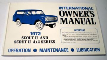 Picture of IH Owners/Operators Manual, 1972 Scout II