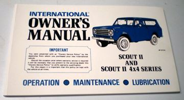 Picture of IH Owners/Operators Manual, 1971 Scout II