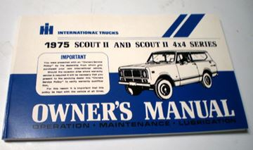 Picture of IH Owners/Operators Manual, 1975 Scout II