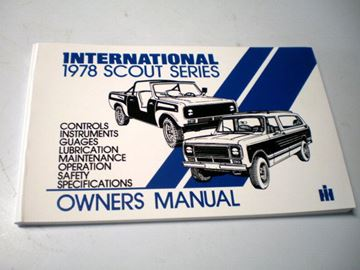 Picture of IH Owners/Operators Manual, 1978 Scout II