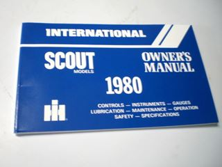 Picture of IH Owners/Operators Manual, 1980 Scout II