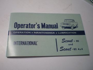 Picture of IH Owners/Operators Manual, 1961-64 Scout 80