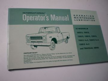 Picture of IH Owners/Operators Manual, 1969 Pickup