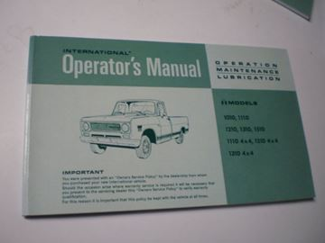 Picture of IH Owners/Operators Manual, 1970-71 Pickup