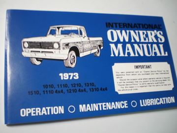 Picture of IH Owners/Operators Manual, 1973 Pickup
