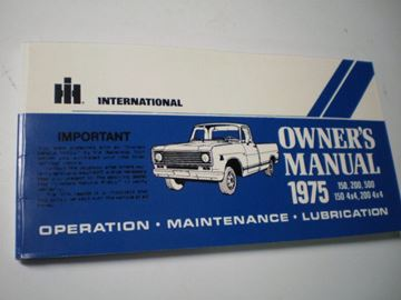 Picture of IH Owners/Operators Manual, 1975 Pickup