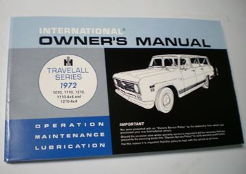 Picture of IH Owners/Operators Manual, 1972 Travelall