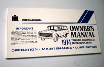 Picture of IH Owners/Operators Manual, 1974 Travelall