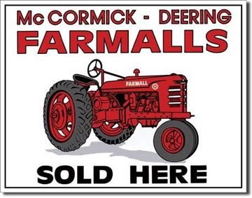 Picture of Tin Sign: IH Farmall Equipment Sold here