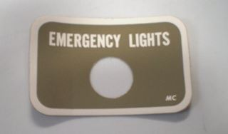 Picture of Hazard Light (Flashers) Column Decal NOS, 1965-68 Pickup Travelall