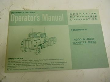 Picture of IH Owners/Operators Manual, 197? 4200/4300 Transtar