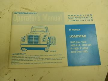 Picture of IH Owners/Operators Manual, 1972-76 Loadstar 1600-1890