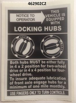 Picture of Late Locking Hub Decal (large)
