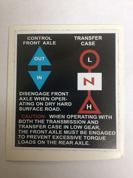 Picture of Transfer Case Shift Decal, Scout 80