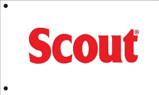Picture of Scout Flag (Block Letters) RED