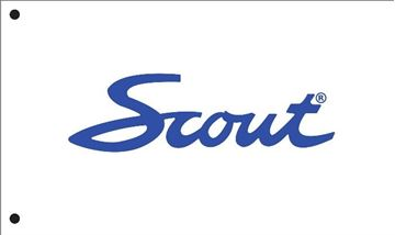Picture of Scout Flag (Script Letters) Blue
