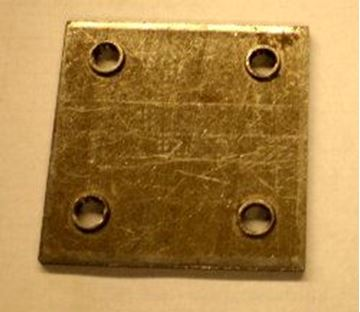 "Picture of Body Part Mounting Nut, Square 5/16"" Holes"
