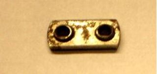 "Picture of Body Part Mount Nut,  2) 1/4"" Holes 3/4"" CC"