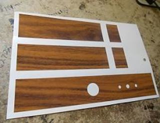 Picture of Woodgrain Air Conditioning Duct Decal