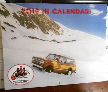 Picture of 2018 Calendar