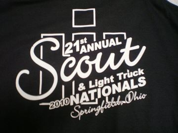 Picture of 21st Annual Scout & Light Truck Nationals 2010 T-shirts Black