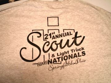 Picture of 21st Annual Scout & Light Truck Nationals 2010 T-shirts GRAY