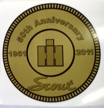 "Picture of 50th Anniversary Scout II 3-1/4"" Decal"