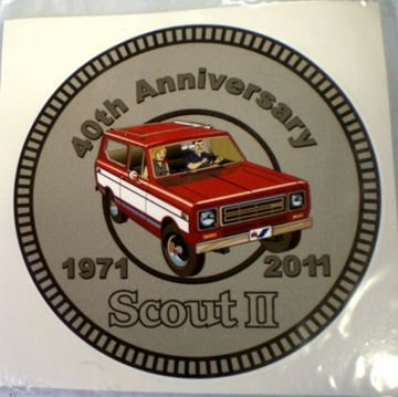 Picture of 40th Anniversary SCOUT II 2011 Decal