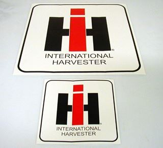 "Picture of 60s Style 12"" IH Decal with Border"