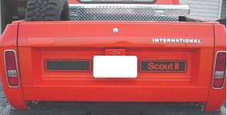 Picture of Custom Tailgate Decal, White Scout II and Blank