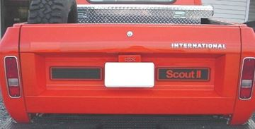Picture of Custom Tailgate Decal, Black Scout II and Blank