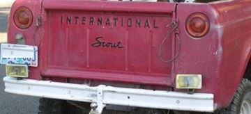 Picture of Black International Tailgate Decals