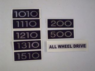 Picture of 71-75 Pickup and Travelall Model Decal, All Wheel Drive