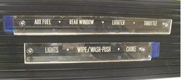 Picture of Dash Control Plates, '72-'75 Pickup Travelall