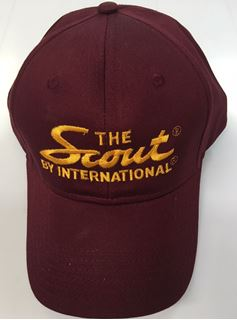 "Picture of ""The Scout by International"" Burgundy Embroidered Hat"